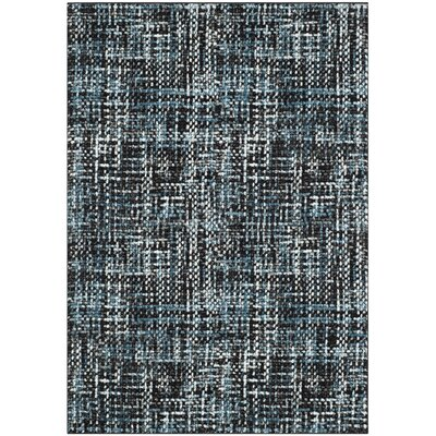 Charis Charcoal/Blue Area Rug Rug Size: Rectangle 53 x 76