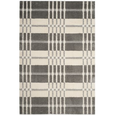 Connor Cream/Gray Area Rug Rug Size: Rectangle 51 x 76