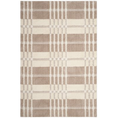 Connor Cream/Beige Area Rug Rug Size: Rectangle 51 x 76