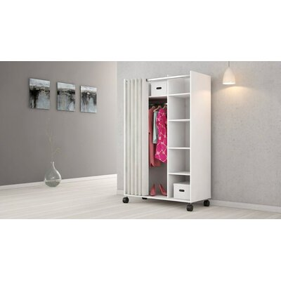 Loke Mobile Curtain Storage Center Armoire