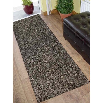 Sanford Solid Hand-Woven Gray Area Rug Rug Size: Runner 26 x 6