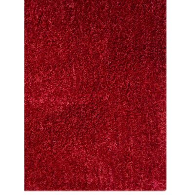 Sanford Solid Hand Tufted Red Area Rug Rug Size: Runner 26 x 6
