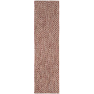 Mullen Red / Beige Indoor/Outdoor Area Rug Rug Size: Runner 23 x 8