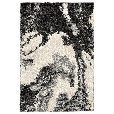 Deray River Gray/Beige Indoor/Outdoor Area Rug Rug Size: 111 x 211