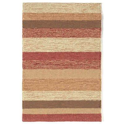 Derby Red Stripe Outdoor Rug Rug Size: Rectangle 2 x 3