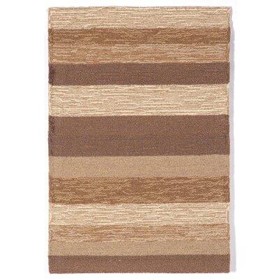 Derby Stripe Sand Indoor/Outdoor Rug Rug Size: Rectangle 2 x 3
