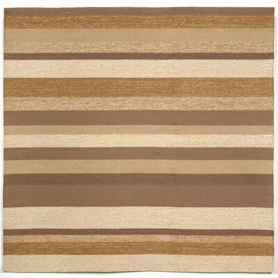 Derby Stripe Sand Indoor/Outdoor Rug Rug Size: Square 8