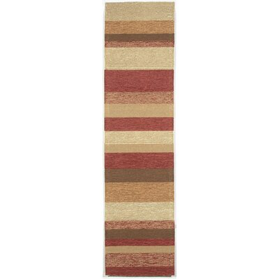 Derby Red Stripe Outdoor Rug Rug Size: Runner 2 x 8