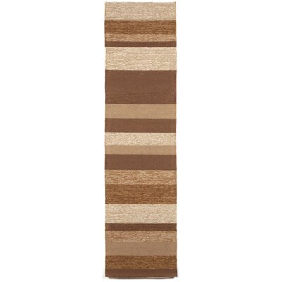Derby Stripe Sand Indoor/Outdoor Rug Rug Size: Runner 2 x 8