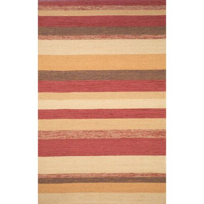 Derby Red Stripe Outdoor Rug Rug Size: Rectangle 5 x 76