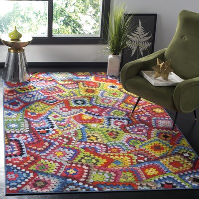 Zavala Green Area Rug Rug Size: Rectangle 4 x 6