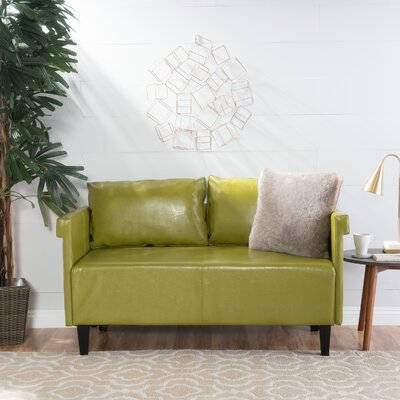 Bruno Settee Upholstery: Green