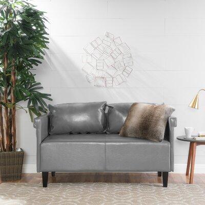 Bruno Settee Upholstery: Gray
