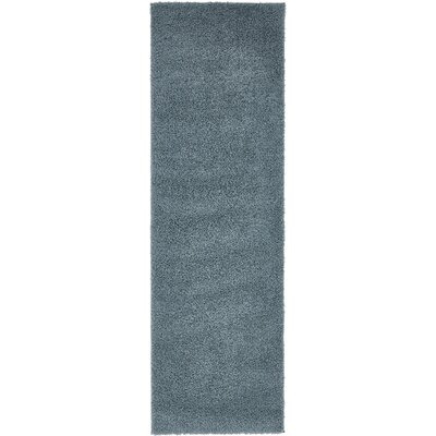 Korte Slate Blue Area Rug Rug Size: Runner 27 x 10