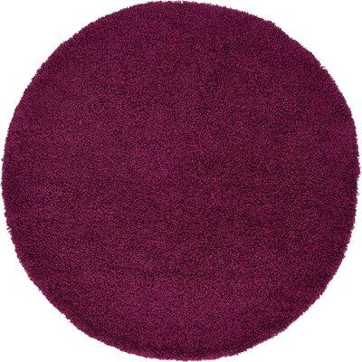 Marine Purple Area Rug Rug Size: Round 6