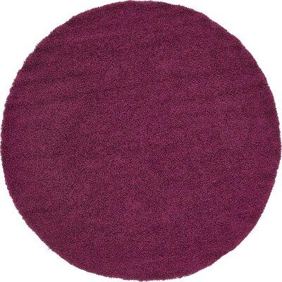 Marine Purple Area Rug Rug Size: Round 82