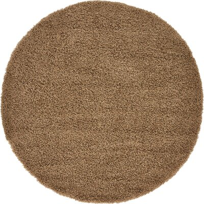 Katherin Brown Area Rug Rug Size: Round 6