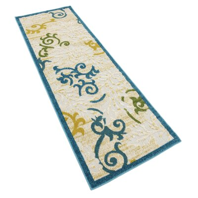 Fidela Blue Indoor/Outdoor Area Rug Rug Size: Runner 2 x 6