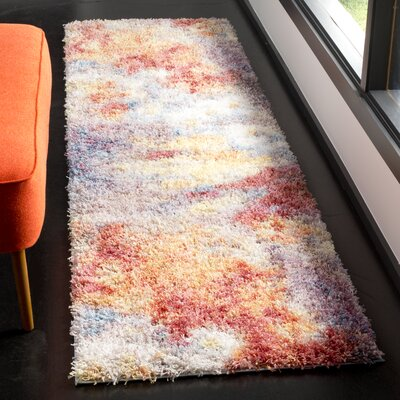 Delma Rust/Ivory Area Rug Rug Size: Runner 23 x 8