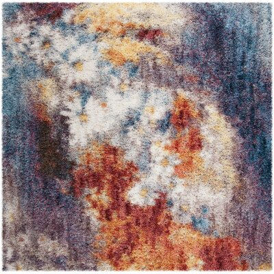 Delma Rust/Ivory Area Rug Rug Size: Square 67