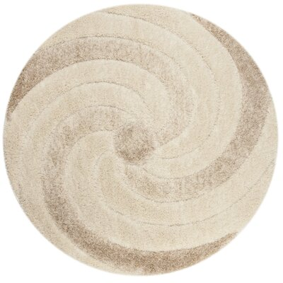 Coolidge Cream/Beige Area Rug Rug Size: Round 67