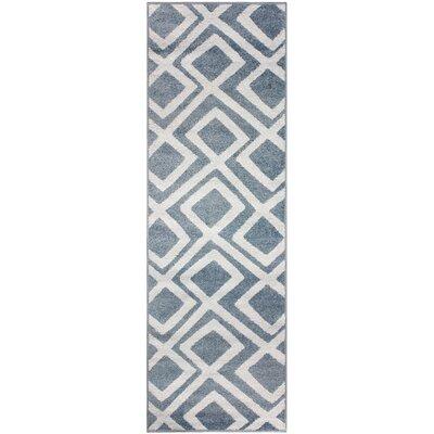 Darroll Flagstone Blue Area Rug Rug Size: Runner 27 x 8