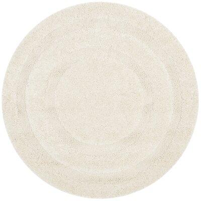 Drennen Creme Area Rug Rug Size: Round 4