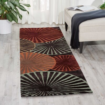Desousa Black/Brown/Blue Outdoor Area Rug Rug Size: Runner 23 x 8