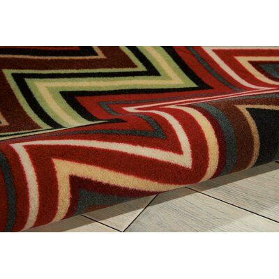 Deonna Machine Machine Woven Brown Area Rug