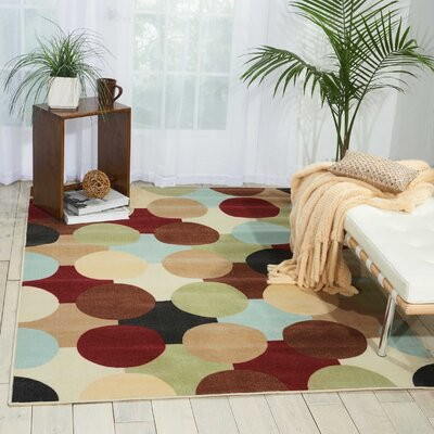 Deonna Red/Green Area Rug