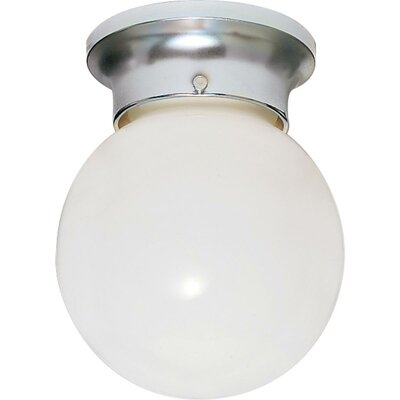 Barrientos 1-Light Semi Flush Mount Finish: Polished Chrome, Size: 9.25 H x 8 W x 8.5 D