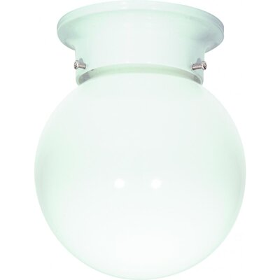 Barrientos 1-Light Semi Flush Mount Finish: White, Size: 9.25 H x 8 W x 8.5 D