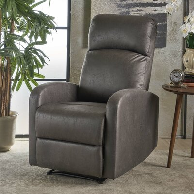Dunkley Manual Recliner Color: Slate