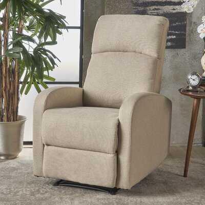 Dunkley Manual Recliner Color: Wheat