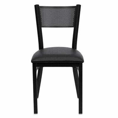 Taylor Side Chair Upholstery: Black