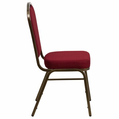 Taylor Crown Banquet Chair Seat Finish: Purple, Frame Finish: Gold Vein