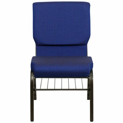 Taylor Church Chair Frame Finish: Silver Vein, Seat Finish: Royal Blue