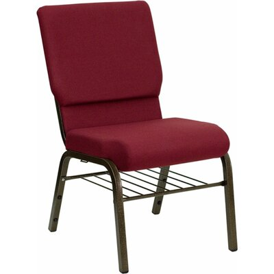 Taylor Church Chair Frame Finish: Silver Vein, Seat Color: Burgundy