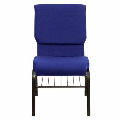 Taylor Church Chair Frame Finish: Gold Vein, Seat Color: Navy Blue