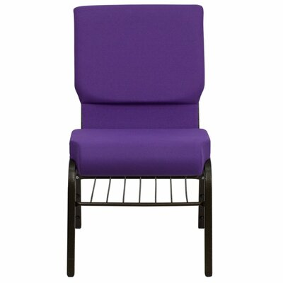 Taylor Church Chair Frame Finish: Gold Vein, Seat Color: Purple Fabric