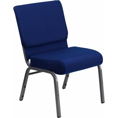 Taylor Stacking Church Chair Seat Color: Navy Blue, Finish: Silver Vein