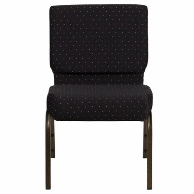 Taylor Stacking Church Chair Seat Color: Black Dot
