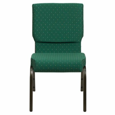Taylor Stacking Church Chair Seat Color: Green