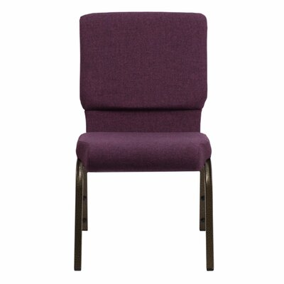 Taylor Stacking Church Chair Seat Finish: Plum, Frame Finish: Gold Vein