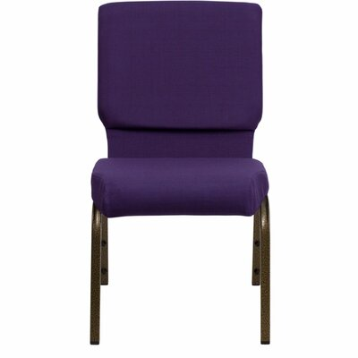 Taylor Stacking Church Chair Seat Finish: Royal Purple, Frame Finish: Gold Vein
