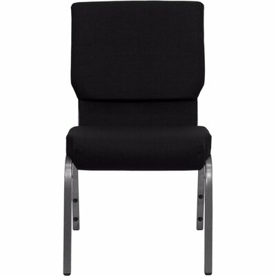 Taylor Stacking Church Chair Seat Finish: Black, Frame Finish: Silver Vein