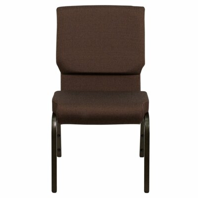 Taylor Stacking Church Chair Seat Color: Dark Brown, Frame Finish: Gold Vein