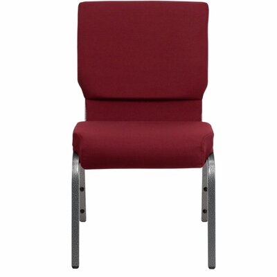 Taylor Stacking Church Chair Seat Finish: Burgundy, Frame Finish: Silver Vein