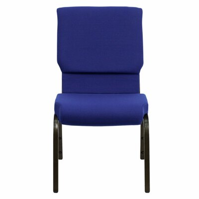 Taylor Stacking Church Chair Seat Color: Navy Blue, Frame Finish: Gold Vein