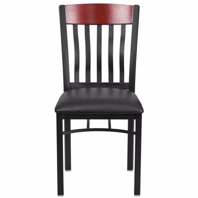 Marcie Vertical Back Side Chair Finish: Mahogany